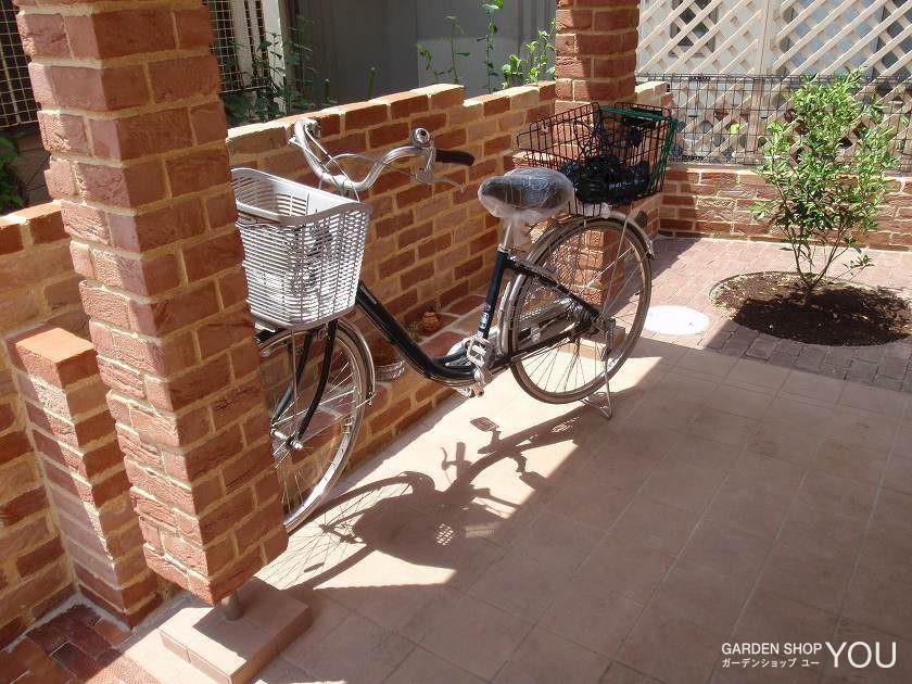自転車がぴったりと収まります。