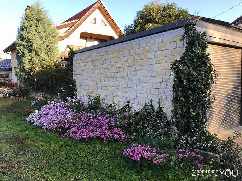 コッツウォルズストーンは草花を、草花はコッツウォルズストーンを、それぞれ引き立てあうのです。