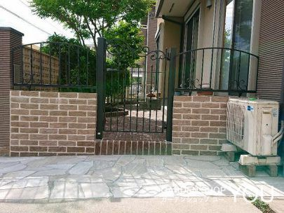 庭への入り口も設けて動線がスムーズに。