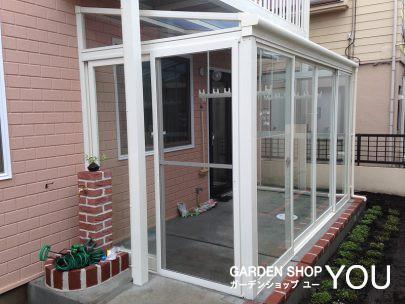 ガーデンルームを設けたらひとつ部屋が増えた感じ。